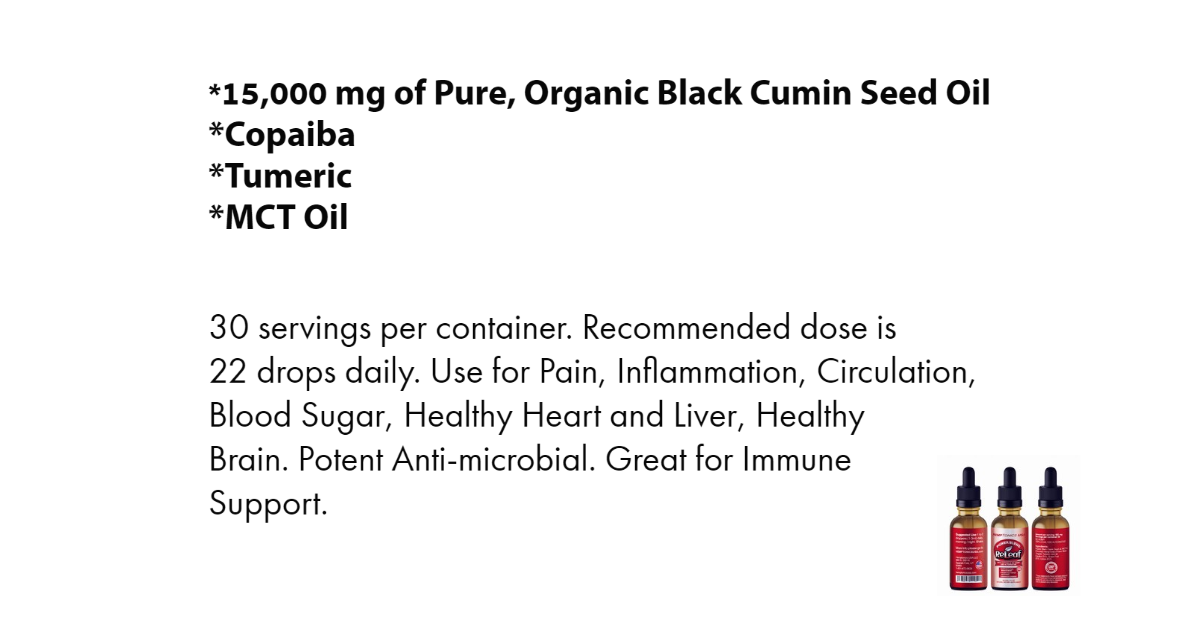 Power Blend Organic Black Cumin Seed Oil
